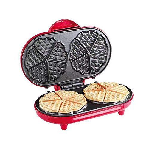 Professionele wafelijzer Mini elektrische wafelijzer Maken van 2 wafels tegelijk Hoge kwaliteit Antiaanbakbord Gemakkelijk schoon te maken Voor ontbijt Lunch of snack