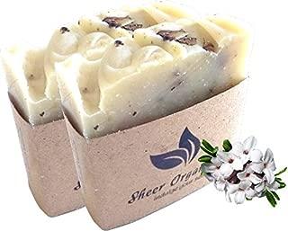 (2 Pack) Sheer Organix Luxury Rejuvenative Handmade Herbal Soap, 3.52 oz. / 100g, Daphne