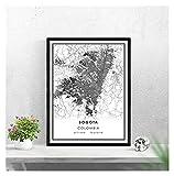 LTGBQNM Mapa de Bogotá Imprimir Cartel Lienzo |Mapa de la Calle Bogotá |Colombia Ciudad Mapa Imprimir Cartel Lienzo 20x28inch Sin Marco