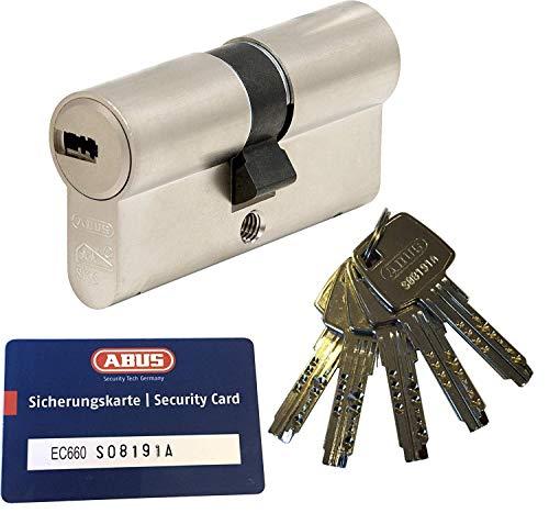ABUS EC660 Profil-Doppelzylinder Länge (a/b) 35/50mm (c=85mm) mit 5 Schlüssel, mit Sicherungskarte