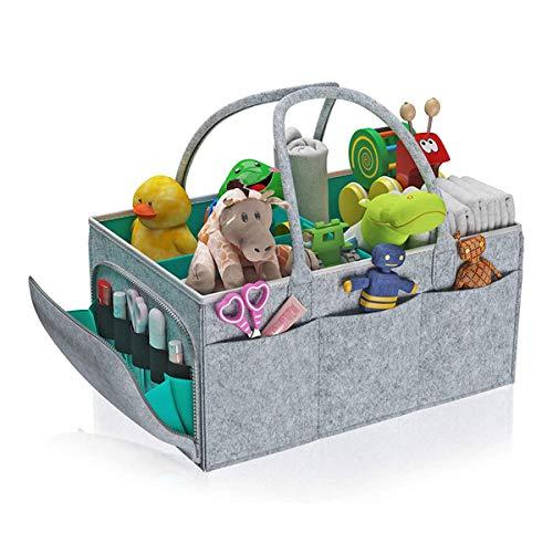おむつストッカー ベビー用品 収納バッグ 仕切り 大容量 折りたたみ おむつ おもちゃ 小物入れ収納 持ち運び便利 旅行 おかけ バスケット 赤ちゃん 出産祝い 出産準備 車載旅行用収納バック