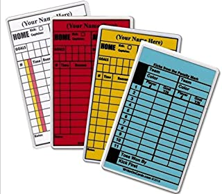Soccer Write-on Referee Cards, 4 Card Set! Personalized with Your Name