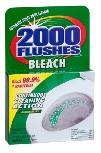 2000 FLUSHES - 290071 Chlorine Bleach Automatic Toilet Bowl Cleaner, 35g [12-Pack]