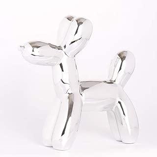 XDH-RTS Nordic Creative Balloon Dog Sculptures Plating Ceramics Crafts Piggy Bank Statues Home Decor Ornaments