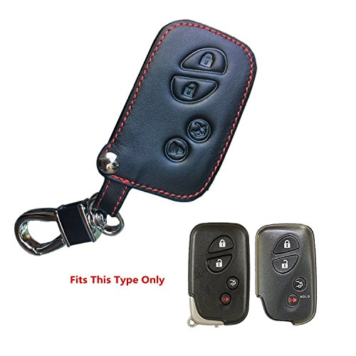 K Genuine Leather Lexus Keyless Entry Remote Control Fob Cover es300 es330 es350 rx350 rx300 is300 is250 gx470 gx460 ls460 gs300 gs400 gs350 nx gx Smart Key fob Cover case Holder for Both 4 Buttons