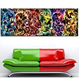HNTHBZ Fashion Canvas Poster The Infinity Saga - Marvel Cinematic Universe Wall Art Avengers Endgame Silk Printed for Room Decor Painting (Size (Inch) : 20X56 inch No Framed)