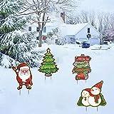 decorazioni all'aperto del prato inglese del segno dell'iarda di buon natale pupazzo di neve, albero di natale, babbo natale, segnaletica,decorazioni per iinterni ed esterni di natale fine anno