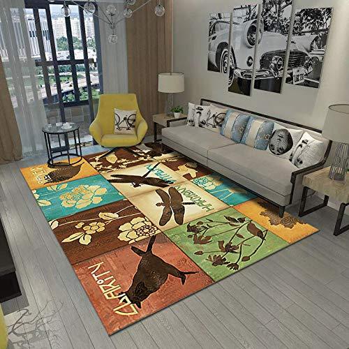 VitaLity Wohnzimmer Teppich,Pastell Farben,Rechteckige Modern Minimalistische Fußmatte des Abstrakten Teppichs,Läufer Teppiche Flur,Antirutschmatte für Teppich 160X230CM