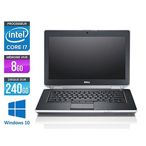 Dell Latitude E6420 - Ordenador portátil de 14,1', color gris (Intel Core i7 2720QM / 2.20 GHz, 8 GB de RAM, disco SSD de 240 GB, grabadora de DVD, WiFi, Windows 10 profesional)