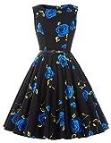 Women's 1950's Vintage Swing Dress Hepburn Style Size L F-24