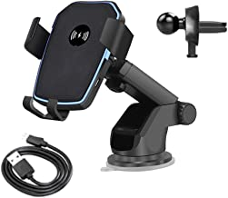 Car Mount Qi Wireless Charger for iPhone 11 XS XR X 8 Quick Charge 10W Fast Charging Car Phone Holder Stand for Samsung S10 S9 (2 in 1 Type)