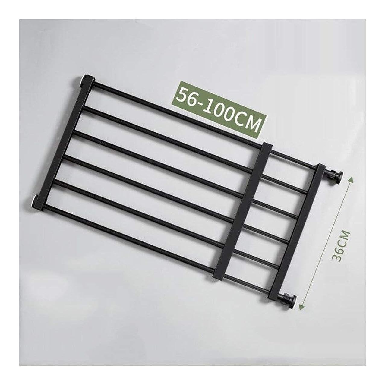 地上でラリーベルモントハーブZEMIN ベビーゲート ベビーゲート安全柵ペット手すり分離ドア調整可能な圧力のインストール、黒、9サイズ (Color : 36cm height, Size : 56-100cm)