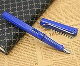 no-branded Pluma de Ganso Dip Pen MJZHXM Classic Silver Oficina de plástico Azul Regalo 0.5MM Pluma