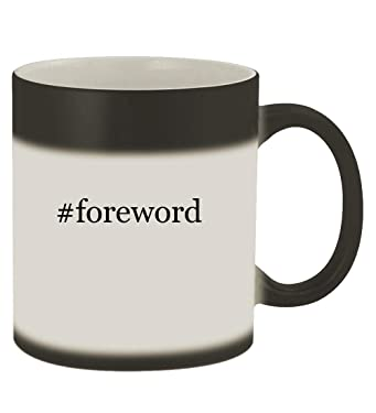 #foreword - 11oz Hashtag Magic Color Changing Mug, Matte Black