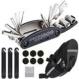 Wukong-Bolsa de sillín de Bicicleta con Herramientas de reparación 16 en 1 Kit de Herramientas de reparación de...