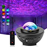 Star Projector, POCOCO Galaxy Projector, Starry Night Light Ambiance with Bluetooth Music Speaker, Ocean Wave Projector for Kids Bedroom, Party, Game Room