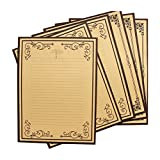 STOBOK 8pcs Carta Kraft retrò Carta da Lettere Set di cancelleria di Carta Vintage...