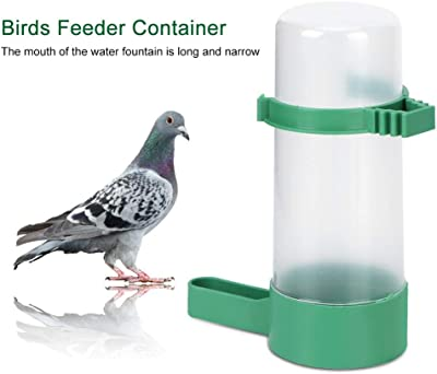 Yosooo Birds Feeder Container, 10pcs Round Plastic Birds Farm Livestock Automatic Feeding Drinking Water Bottle Container