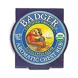 Badger - Aromatic Chest Rub, Eucalyptus & Mint, Certified Organic, Soothing Vapor Rub with Eucalyptus Essential Oils, Baby Chest Rub, Vapor Rub Ointment, 0.75 oz