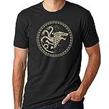 Game of Thrones Stark Targaryen Black Shirt (X-Large)