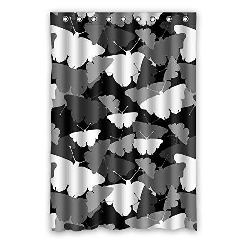 DOUBEE Badezimmer Schmetterling Butterfly Wasserdichtes Duschvorhänge SHOWER CURTAIN 120cm x 183cm