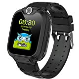 Kids Smart Watch for Boys Girls - Kids Watches with Games - 1.44'' HD Touch Screen Smartwatch for Children with SOS Call Camera Music Player Game Alarm (Black)