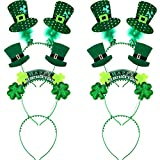 TecUnite 6 Pieces St. Patrick's Day Green Headband...