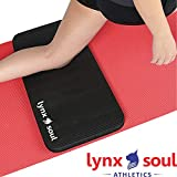 LYNXSOUL Premium Quality Knee and Elbow Mini Mat - Extra Cushion That Complements Your Full-Size Yoga Mat - Ideal for Yoga, Pilates, Planks or Gardening.