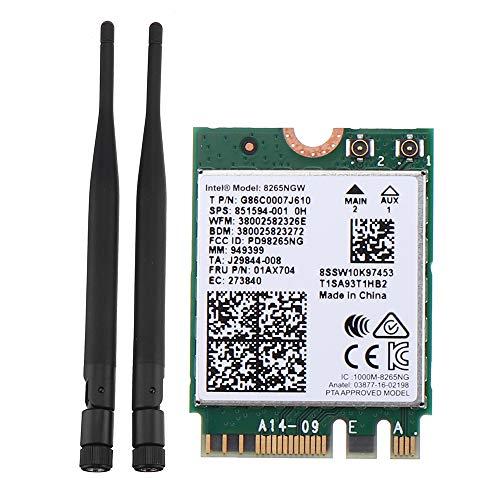 ILS - Tarjeta de Red inalámbrica Intel 8265AC 8265NGW 2.4G / 5G WiFi Bluetooth 4.2 módulo para Nano