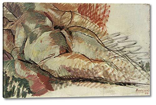 "Nudo Simultaneo by Umberto Boccioni - 8"" x 12"" Gallery Wrap Canvas Art Print - Ready to Hang"