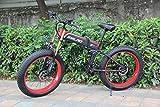 【日本在庫】1000W FAT 電動マウンテンバイク 電動自転車 26*4.0タイヤ シマノ21速 油圧ディスクブレーキ フルサスペンション (レッド)