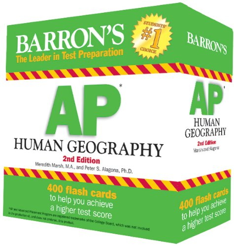 Barrons Ap Human Geography Flash Cards 2nd Edition