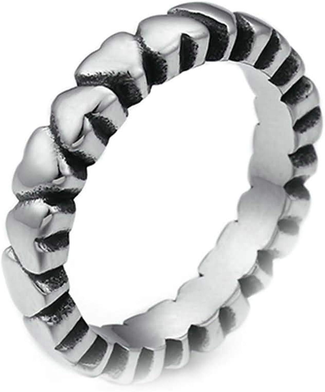 Epinki Titanium Steel Bombing Tucson Mall new work Men Wedding Ring Bands Heart Silver