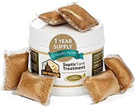 Septic Tank Treatment - 1 Year Supply of Dissolvable Easy Flush Live Bacteria Packets (12 Count) - Best Way to Prevent Expensive Sewage Backups - Made in USA