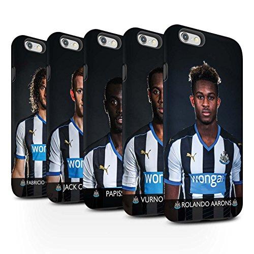Ufficiale Newcastle United FC Custodia/Cover Matte Antiurto Caso/Cassa per Apple iPhone 6 stampata con il disegno NUFC Calciatore 15/16 / 25pcs Confezione