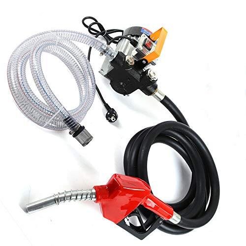 Kraftstoffpumpe - Selbstansaugende Dieselpumpe,Elektrische Diesel Kraftstoff-Umfüllpumpe Pumpe selbstansaugend mit Schläuchen, Zapfpistole und Zählwerk Filteranlage (230V 60L/min 550W)