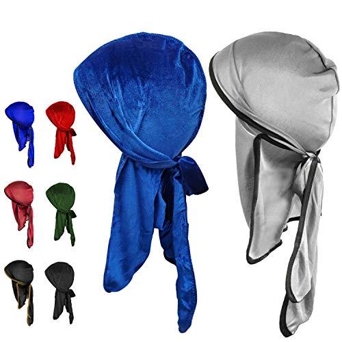 8 Pk Durags for Men, 4 Velvet durag 4 durags for Men Silk, Luxury Velvet durag for Men, durag Pack,