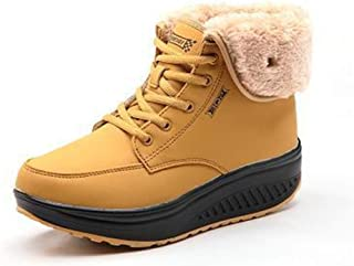 lcky Autumn and Winter New Ladies Plus Cotton Sneakers Running Shoes