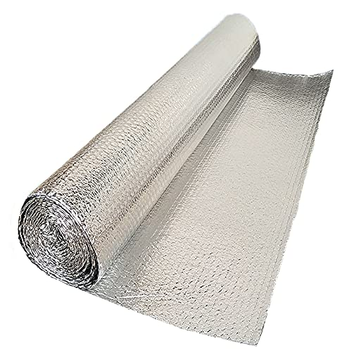 Aislamiento Termico Aluminio Reflexivo, Aislante Termico, Rollo Aislante Termico De, Radiador Calor Reflector, Para Buhardilla Paredes Caravanas Y Áticos Aislamiento Termico Alu(Size:1x30m/3.2x98.4ft)