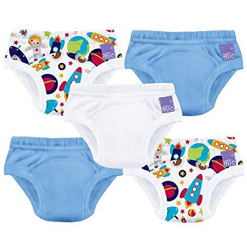 Bambinomio Potty Lot de 5 culottes d'apprentissage réutilisables pour garçon Taille 3ans et plus