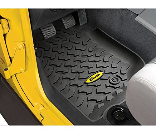 Bestop 5150001 Floor Liners for Front Seats for 2007-2013 Wrangler 2-Door & 4-Door