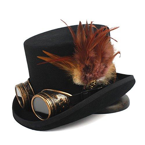 HUILIAN HATS Cappello alla moda, Cappello da cocktail per cappello da tè con cappello Fedora Hat da donna in lana taglia 4 Dai stile alla tua vita