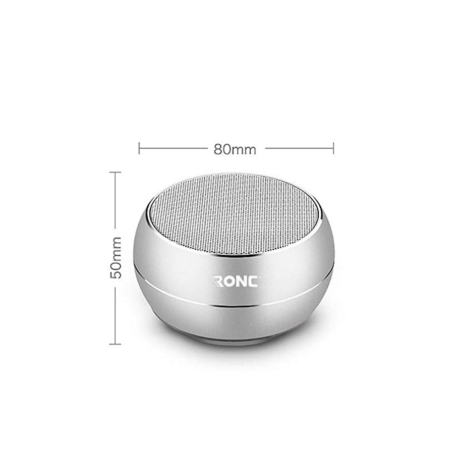JIASHU True Wireless Bluetooth Speakers Micro Sd Card Slot USB Audio Input Instant Pairing & Built in Mic for Handsfree Calls for Home, Outdoors Travel by,White