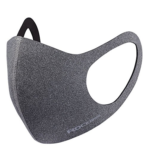 ROCKBROS(ロックブロス) マスク立体構造 花粉症対策 ファッション 手洗い可能 防風 スポーツ アウトドア 工事現場 立体構造マスク(LF006-GR) グレー 普通
