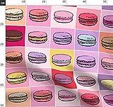 Macaron, Pop Art, Keks, Paris Stoffe - Individuell Bedruckt