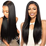 Voguetrend Brazilian Virgin Straight Hair 4 Bundles 18 20 22 24 inch 100% Human Hair Bundles Straight Natural Color Soft and Double Strong Weft