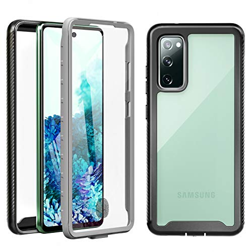 Re-sport - Carcasa para Samsung Galaxy S20 FE 5G/4G con protector de pantalla integrado, funda antigolpes, protección de 360 grados, funda completa para Samsung Galaxy S20 FE, color transparente y negro