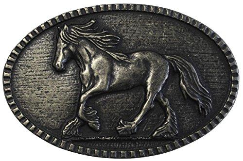 Brazil Lederwaren Gürtelschnalle Pferd 4,0 cm   Buckle Wechselschließe Gürtelschließe Reitaccessoires 40mm Massiv   für Reit-Outfit