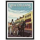 USA New Orleans Louisiana America Vintage Reise Poster
