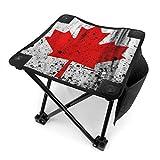 End Nazi Splash Paint Bandera Canadiense Taburete portátil para Acampar Sillas Plegables Sillas Plegables al Aire Libre para Acampar Pesca Senderismo